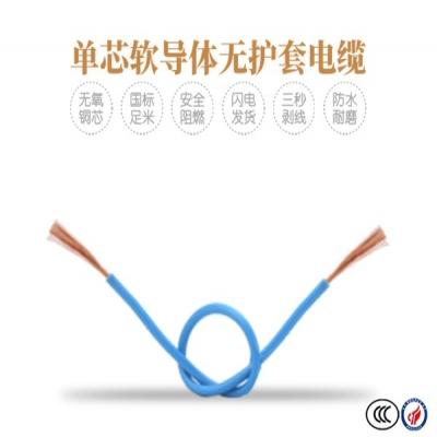 单芯软导体无护套电缆60227 IEC06(RV)